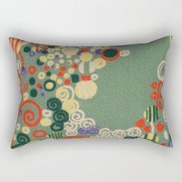 """Gustav Klimt """"Textile design - Model 8"""" Rectangular Pillow"""