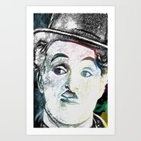 chaplin Art Prints featuring Chaplin by Marian - Claudiu Bortan