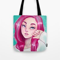 cyarin Tote Bags featuring Freckly by Cyarin