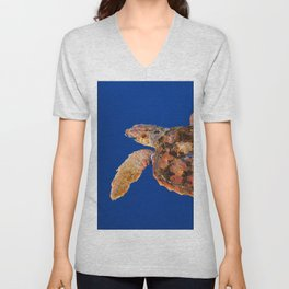 Loggerhead sea turtle Unisex V-Neck