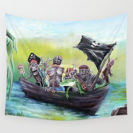 Pirate Booty Beach Wall Tapestry