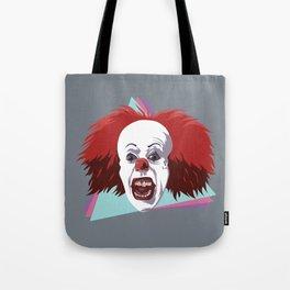 Evil clown it halloween Tote Bag