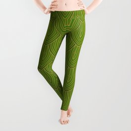 Deco Peacock - Green Leggings