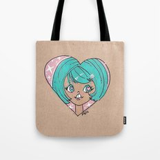 Little Cutie Heart Two Tote Bag