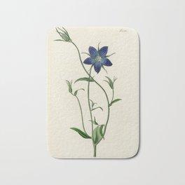 Pollini's Bell Flower / W. Curtis 1857 Bath Mat