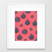 fig Framed Art Prints featuring Fig pattern by Georgiana Paraschiv