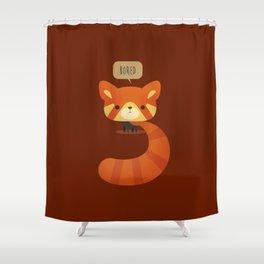 Little Furry Friends - Red Panda Shower Curtain