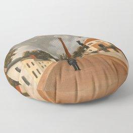 Henri Rousseau - Vue des environs de Paris Floor Pillow
