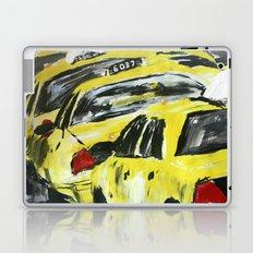 New York Taxis Fine Art Acrylic Painting Laptop & iPad Skin