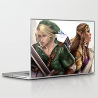 the legend of zelda Laptop & iPad Skins featuring Legend of Zelda by KlsteeleArt