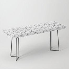 Otter pattern Bench