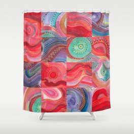 repetitive moments in air Shower Curtain