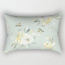 Soft Mint Floral Rectangular Pillow