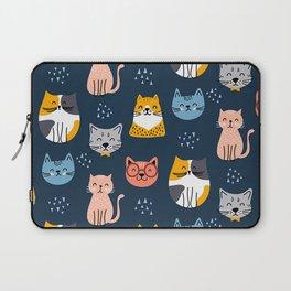 cute seamless cats pattern Laptop Sleeve