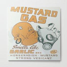 Vintage poster - Mustard Gas Metal Print