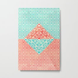 Retro Optical Fantasia Metal Print