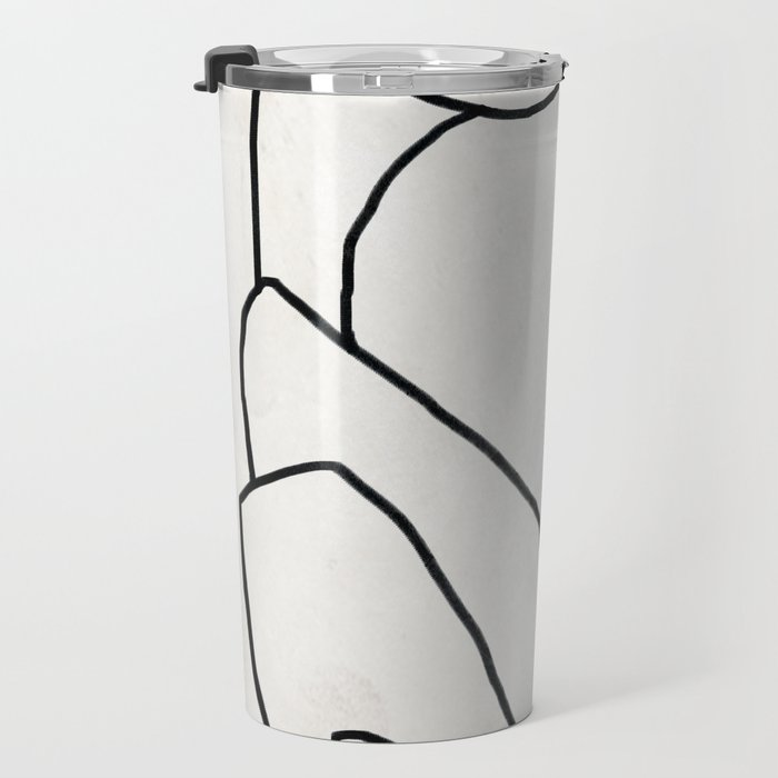 Abstract line art 2 Travel Mug