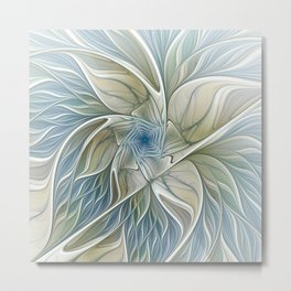 A Floral Dream, Abstract Fractal Art Metal Print