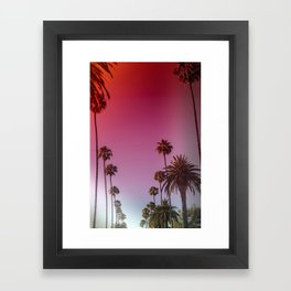 Palm Tree Romance Framed Art Print