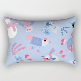 Winter Birds Rectangular Pillow