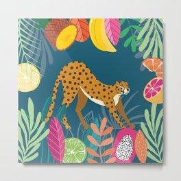 Cheetah Stretching In The Wild Metal Print