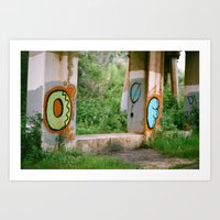 Odd Graffiti Art Print