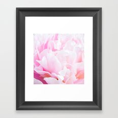 CREAMY PINK FLOWER Framed Art Print
