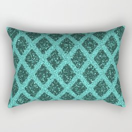 emerald rhombus Rectangular Pillow