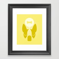 Boston Terrier Thoughts: Treats. Framed Art Print