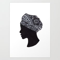 The Exotic of Turban Woman Art Print