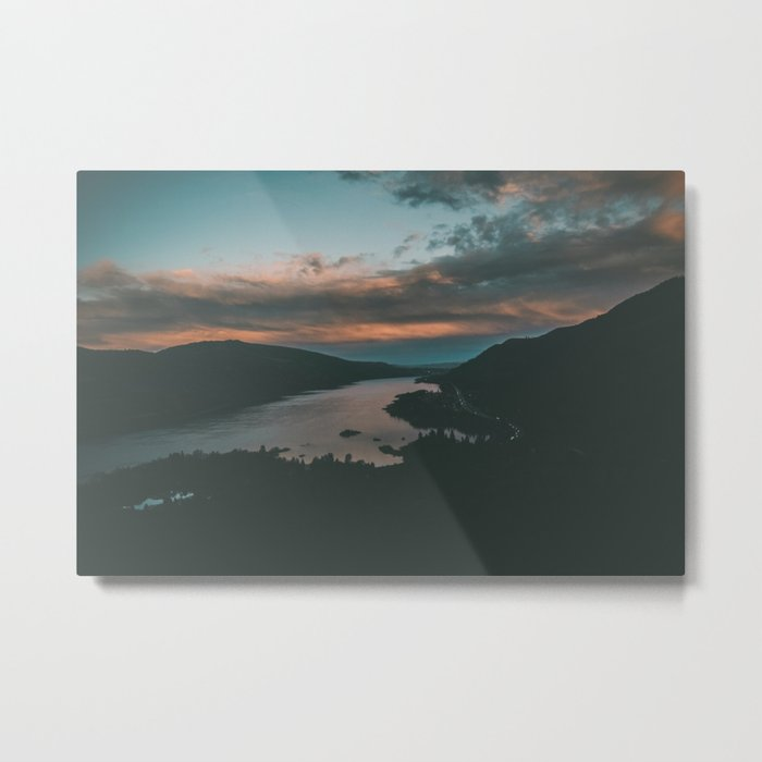 Columbia River Gorge Sunset Metal Print