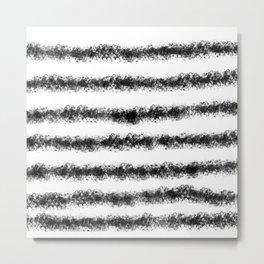 Marinière noire Metal Print