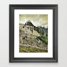 Machu Picchu, Peru Framed Art Print
