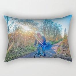 Countryside Cycling Rectangular Pillow