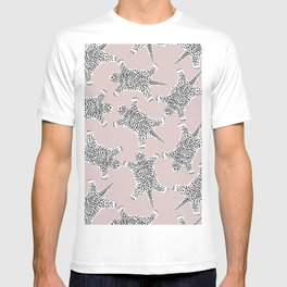 LEOPARD HIDE PATTERN ROSE DUST T-shirt