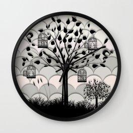 Paper landscape B&W Wall Clock