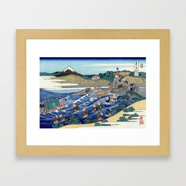 Katsushika Hokusai - 36 Views of Mount Fuji (1832) - 44: The Fuji from Kanaya on the Tōkaidō Framed Art Print
