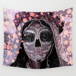 Novia Dia de los Muertos Estrellas Wall Tapestry