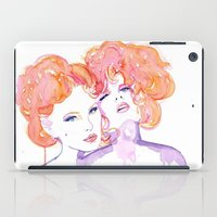 gustav klimt iPad Cases featuring Klimt Mistresses by Nicola MacNeil