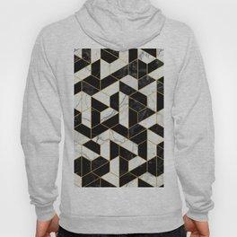 Black and White Marble Hexagonal Pattern Hoody