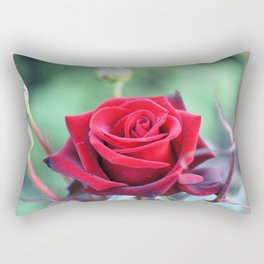 Roses on the city flowerbed. Rectangular Pillow