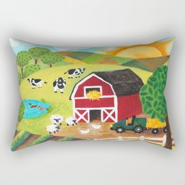 Daybreak on the Farm Rectangular Pillow