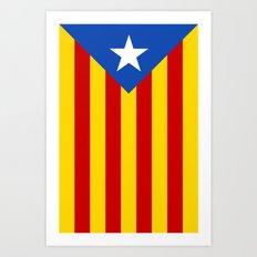 Estelada Blava - Senyeraestelada, HQ Banner version Art Print