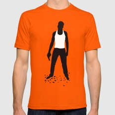 DIE HARD Mens Fitted Tee Orange SMALL