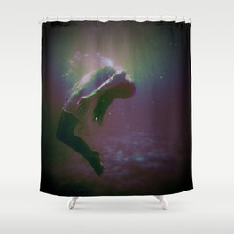 Drowning Glitch Shower Curtain