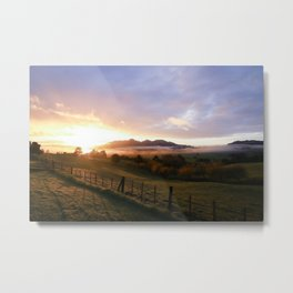 New Zealand Sunrise Metal Print