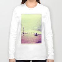 santa monica Long Sleeve T-shirts featuring Santa Monica Boardwalk by Alissa Huff