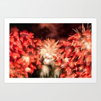 philippines Art Prints featuring Fireworks - Philippines 9 by David Johnson