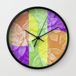 Groovy Succulents Wall Clock