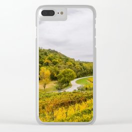 Scenic view of the freshly harvested grape fields in autumn near Buje Clear iPhone Case